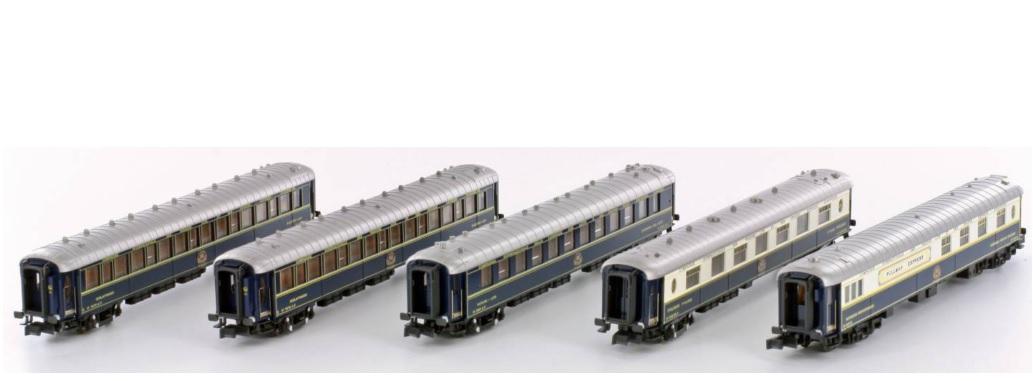 N Scale - Kato Lemke - K23219 - CIWL 5 Cars Orient Express - Compagnie Internationale des Wagons-Lits