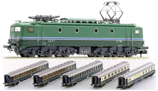 N Scale - Kato Lemke - K23219-1 - CIWL Loco with 5 Cars Orient Express - Compagnie Internationale des Wagons-Lits