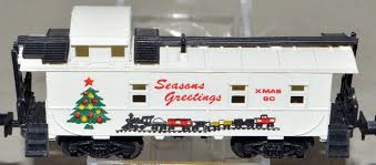 N Scale - Bev-Bel - 2169-2 - Caboose, Cupola, Offset 8-Window - Seasons Greetings - 90