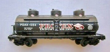 N Scale - Industrial Rail - 7793 - Tank Car, Triple Dome, 40 Foot - Protex Industries - 1054
