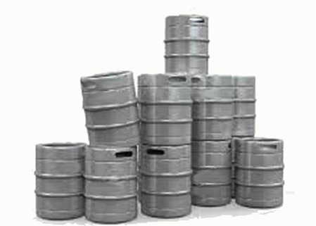N Scale - Model Tech Studios - D1126P - Beer Kegs - Painted/Unlettered