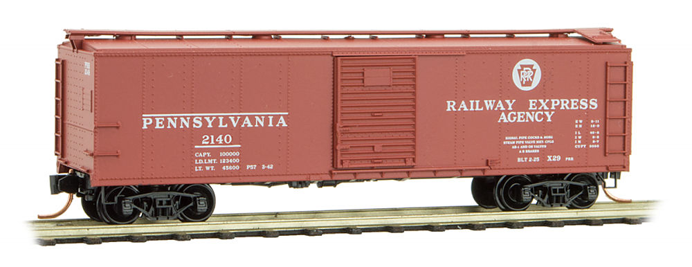 N Scale - Micro-Trains - 120 00 261 - Boxcar, 40 Foot, USRA Steel Rebuilt - Pennsylvania - 2140