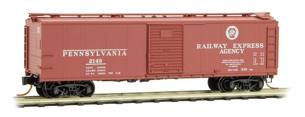 N Scale - Micro-Trains - 120 00 262 - Boxcar, 40 Foot, USRA Steel Rebuilt - Pennsylvania - 2148