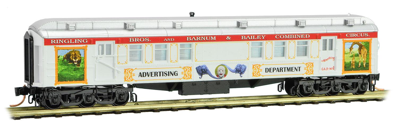 N Scale - Micro-Trains - 140 00 210 - Passenger Car, Heavyweight, Pullman RPO - Ringling Bros. and Barnum & Bailey - 4