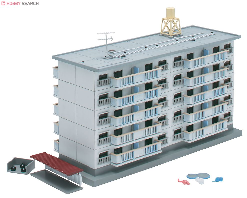 N Scale - Skynet - 088517 - 5 Story Apartment Building - Residential Structures
