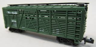 N Scale - Model Power - 3552 - Stock Car, 40 Foot, Wood - Rio Grande - 37713