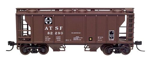 N Scale - Atlas - 31574 - Covered Hopper, 2-Bay, PS2 - Santa Fe - 82290