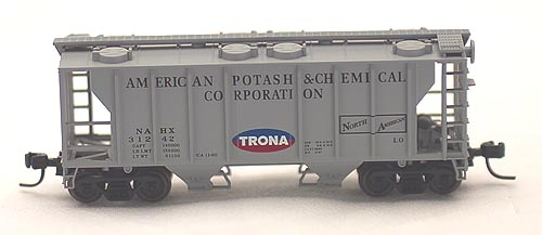 N Scale - Atlas - 31582 - Covered Hopper, 2-Bay, PS2 - Trona Chemicals - 31245