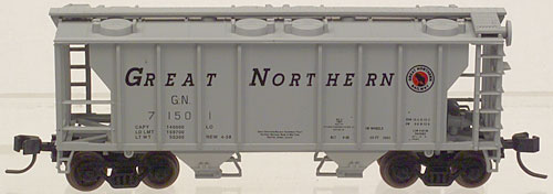 N Scale - Atlas - 31752 - Covered Hopper, 2-Bay, PS2 - Great Northern - 71501