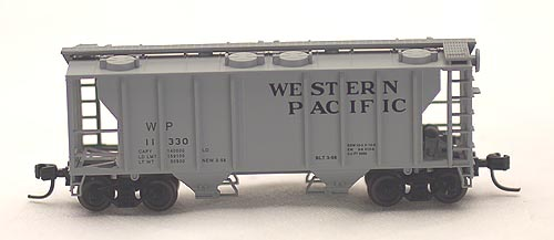 N Scale - Atlas - 31772 - Covered Hopper, 2-Bay, PS2 - Western Pacific - 11334