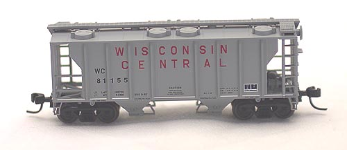 N Scale - Atlas - 31782 - Covered Hopper, 2-Bay, PS2 - Wisconsin Central - 81158