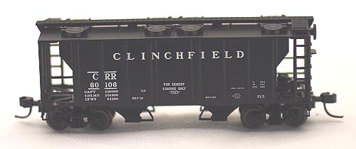 N Scale - Atlas - 31813 - Covered Hopper, 2-Bay, PS2 - Clinchfield - 60110