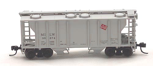 N Scale - Atlas - 31843 - Covered Hopper, 2-Bay, PS2 - Milwaukee Road - 98874