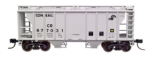 N Scale - Atlas - 31891 - Covered Hopper, 2-Bay, PS2 - Conrail - 877031