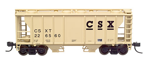 N Scale - Atlas - 31901 - Covered Hopper, 2-Bay, PS2 - CSX Transportation - 226560
