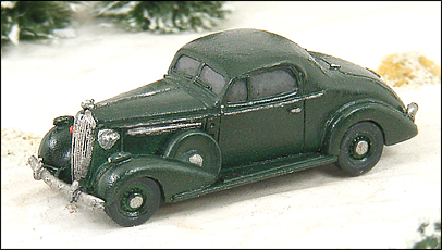 N Scale - GHQ Models - 57003 - 1936 Buick 2 Door Coupe - Undecorated