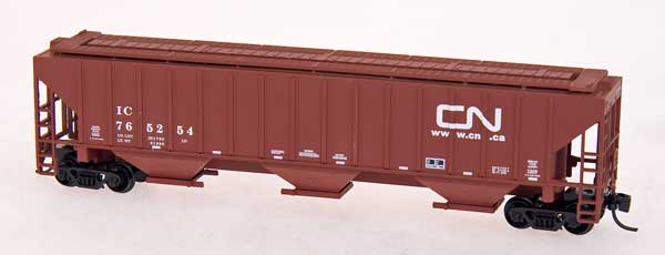 N Scale - Red Caboose - RM-25438-04 - Covered Hopper, 3-Bay, PS2-CD 4740 - Canadian National - 765262