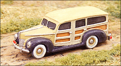 N Scale - GHQ Models - 57013 - 1940 Ford Woody - Undecorated