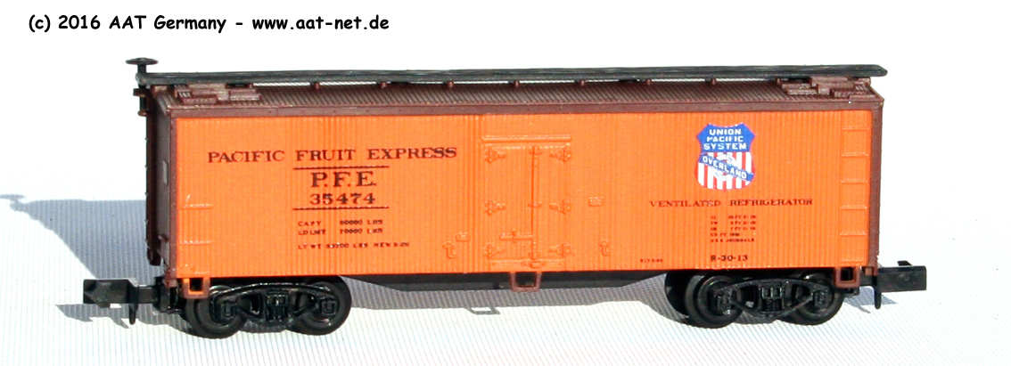 N Scale - Arnold - 5331 - Reefer, Ice, Wood - Pacific Fruit Express - 35474