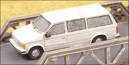 N Scale - GHQ Models - 51006 - Dodge Caravan - Undecorated