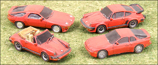 N Scale - GHQ Models - 51015 - Various Sports Cars - Undecorated