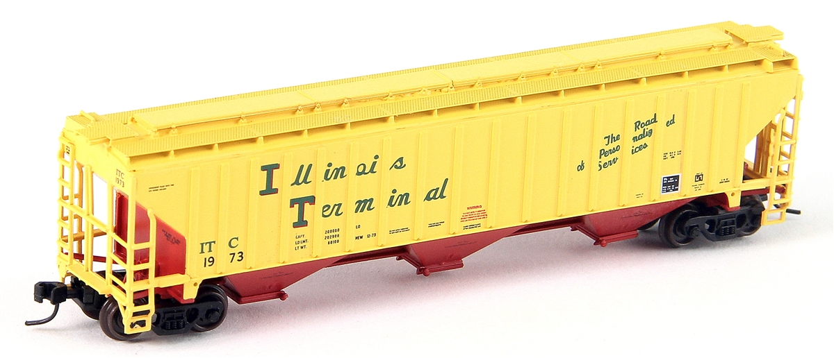N Scale - YesterYear Models - YYM61003IT-2148 - Covered Hopper, 3-Bay, Thrall 4750 - Illinois Terminal - 2148