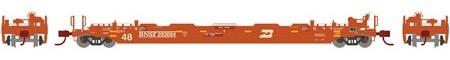 N Scale - Athearn - 12383 - Container Car, Single Well, Gunderson Husky Stack 48 - Burlington Northern Santa Fe - 203014