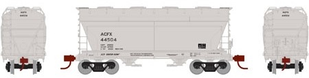 N Scale - Athearn - 12476 - Covered Hopper, 2-Bay, ACF Centerflow - American Car & Foundry - 44504