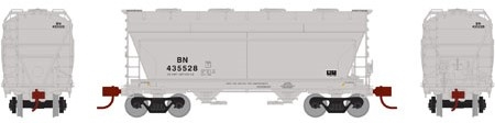 N Scale - Athearn - 12483 - Covered Hopper, 2-Bay, ACF Centerflow - Burlington Northern - 435977