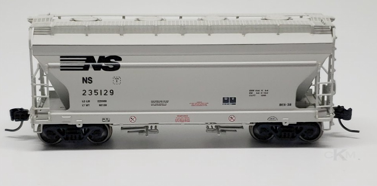 N Scale - Athearn - 12492 - Covered Hopper, 2-Bay, ACF Centerflow - Norfolk Southern - 235129