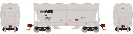 N Scale - Athearn - 12495 - Covered Hopper, 2-Bay, ACF Centerflow - Norfolk Southern - 235191