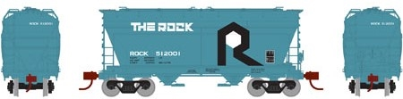 N Scale - Athearn - 12498 - Covered Hopper, 2-Bay, ACF Centerflow - Chicago, Rock Island and Pacific Railroad - 512018