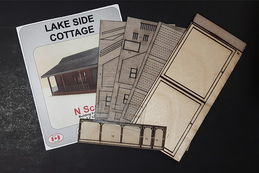 N Scale - Osborn Models - RRA-3025 - Cabin - Residential Structures - Lake Side Cottage