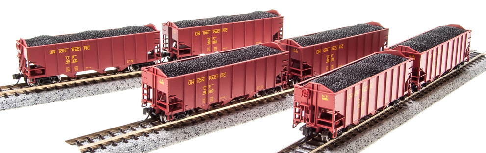 N Scale - Broadway Limited - 3654 - Open Hopper, 3-Bay, H2A - Union Pacific - Pack B