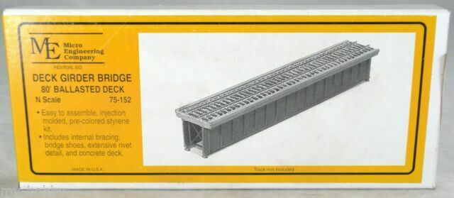 N Scale - Micro Engineering - 75-152 - Ballasted deck grider bridge section - Undecorated