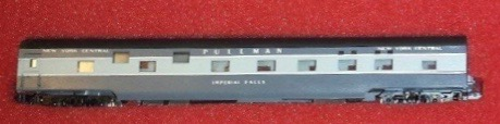 N Scale - Con-Cor - 0001-04011Q - Passenger Car, Smoothside, 85 Foot Sleeper - New York Central - Imperial Falls