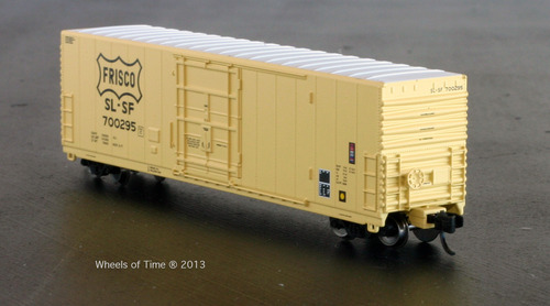 N Scale - Wheels of Time - 61010 - Boxcar, 50 Foot, PC&F Insulated - Frisco - 700206