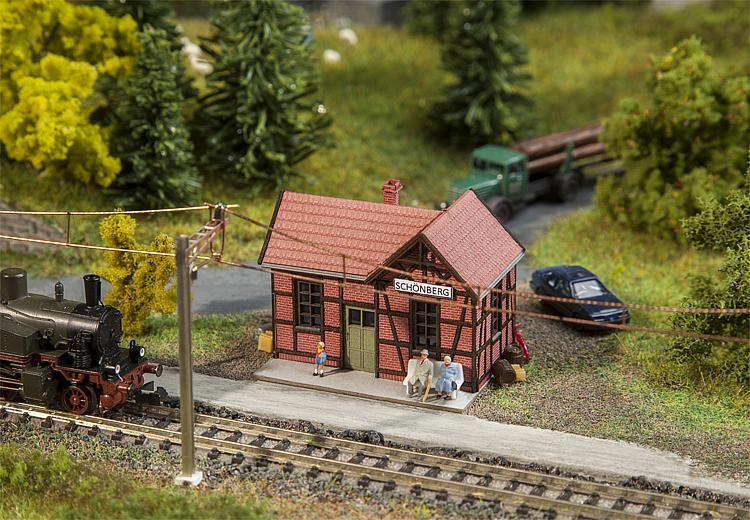 N Scale - Faller - 212150 - Railroad Station - Railway Station