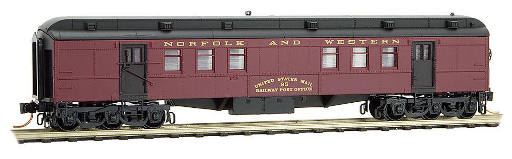 N Scale - Micro-Trains - 140 00 180 - Passenger Car, Heavyweight, Pullman RPO - Norfolk & Western - 95