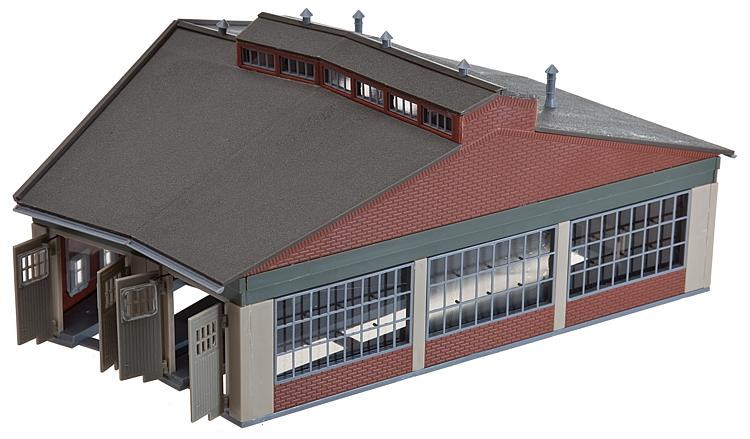 N Scale - Faller - 222118 - 2 Stall Roundhouse - Railroad Structures