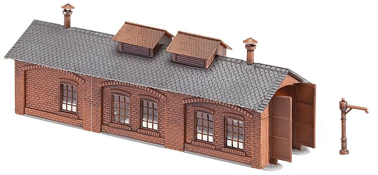 N Scale - Faller - 222141 - Engine Shed - Railroad Structures