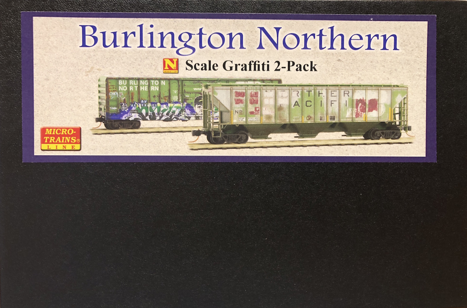 N Scale - Micro-Trains - 993 05 440 - Mixed Freight Consist, North America, Transition Era - Burlington Northern