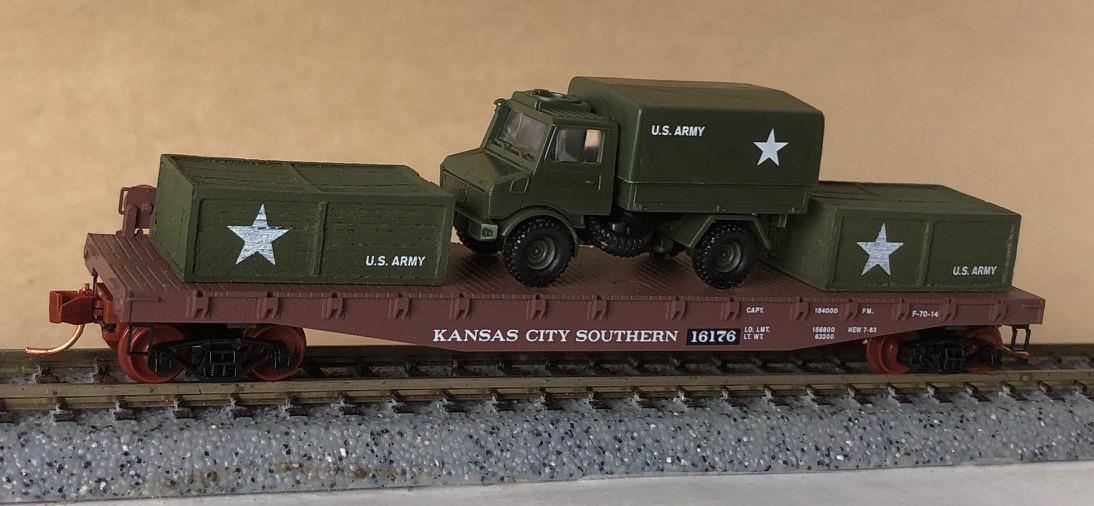 N Scale - Micro-Trains - NSE MTL 17-232 - Flatcar, 50 Foot - Kansas City Southern - 16176
