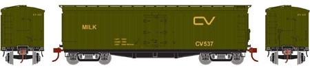 N Scale - Athearn - 23686 - Reefer, 40 Foot, Pfaudler - Central Vermont - 545