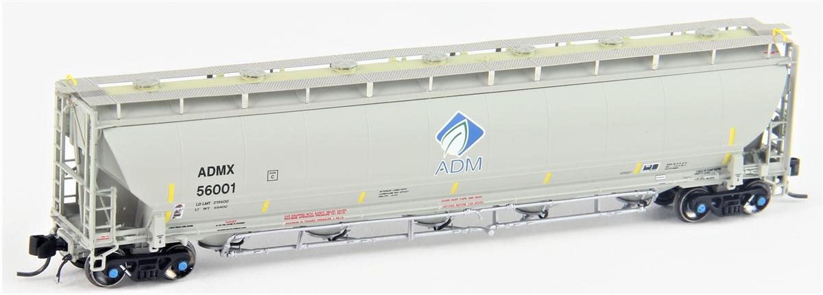 N Scale - Atlas - 50 003 242 - Covered Hopper, 5-Bay, Trinity 5660 Pressure Differential - Archer Daniels Midland - 56045