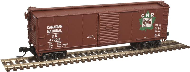 N Scale - Atlas - 50 003 343 - Boxcar, 40 Foot, USRA Steel Rebuilt - Canadian National - 470047