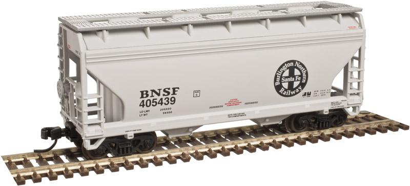 N Scale - Atlas - 50 003 590 - Covered Hopper, 2-Bay, ACF Centerflow - Burlington Northern Santa Fe - 405439