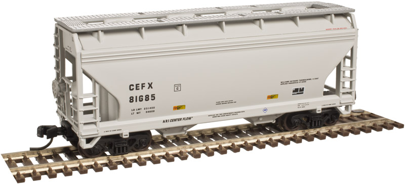 N Scale - Atlas - 50 003 599 - Covered Hopper, 2-Bay, ACF Centerflow - CSX Transportation - 253124