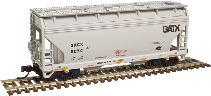 N Scale - Atlas - 50 003 603 - Covered Hopper, 2-Bay, ACF Centerflow - GATX Corporation - 9158