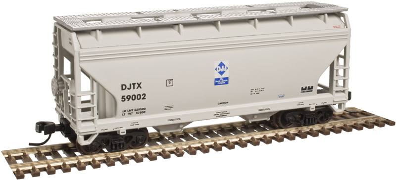 N Scale - Atlas - 50 003 606 - Covered Hopper, 2-Bay, ACF Centerflow - David J. Joseph Company - 59002